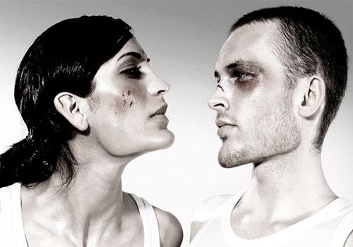 Побитые муж и жена