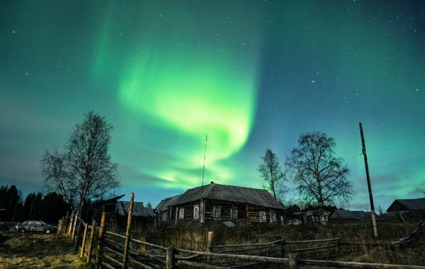 Северное сияние в Красноярском крае