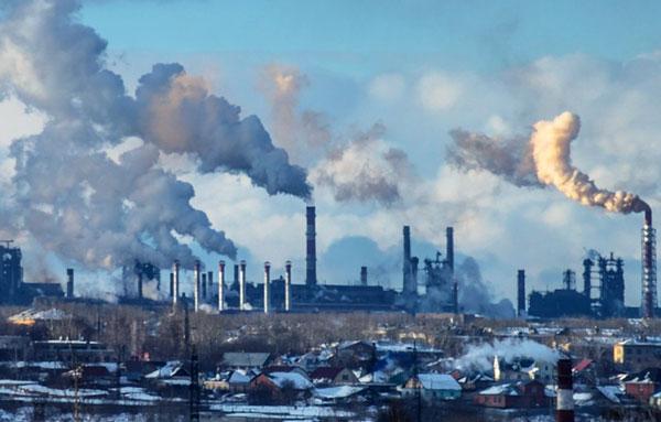 Сильный смог в Челябинске