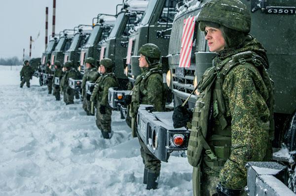 Российские военные на страже