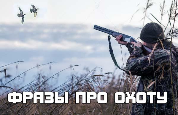 Короткие фразы про охоту