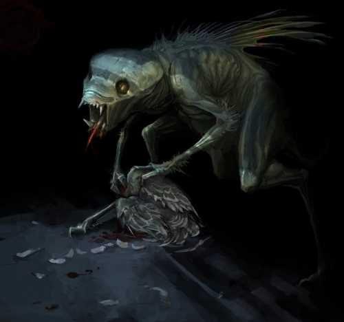 чупакабра кушает