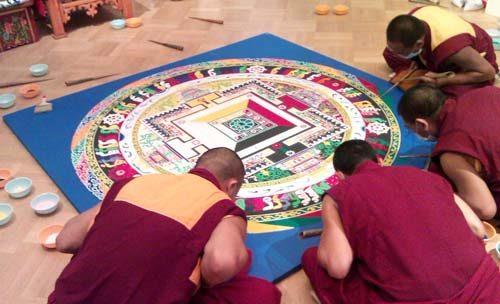 Буддисты раскрашивают круг реинкарнации