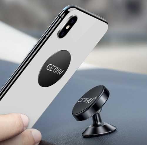 Крепление телефона на магнитную пластину в автомобиль