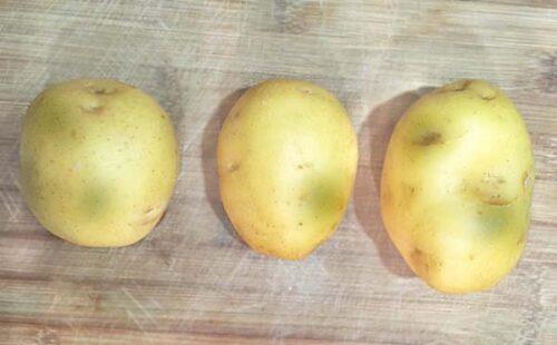 Зеленые пятна на картошке