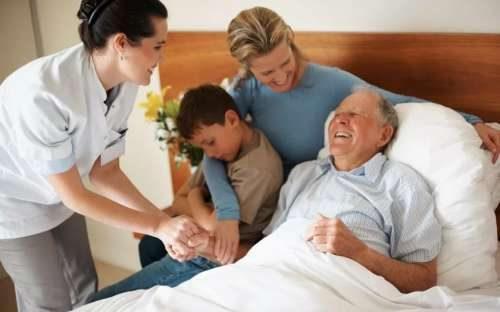 у пациента посетители в больнице