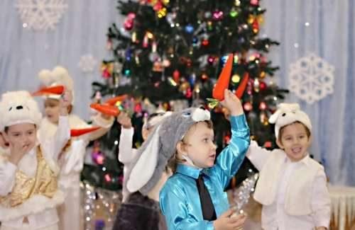 Детские конкурсы на Новый год ЗАВЯЗАННЫЕ ГЛАЗА ЕЛКА