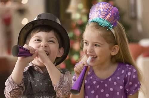 Детские смешарики и конкурсы на Новый год