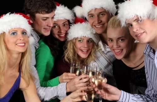 Гости встречают новый год