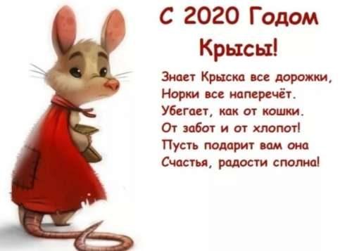 Новый год крысы, поздравление