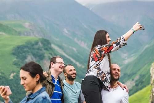 Русские туристы в Грузии