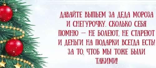 тост на новый год про Снегурочку