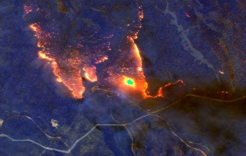 австралия пожар новая зеландия снимок из космоса
