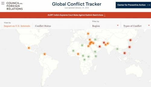 Global Conflict Tracker сайт