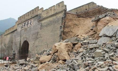 Разрушенная великая китайская стена
