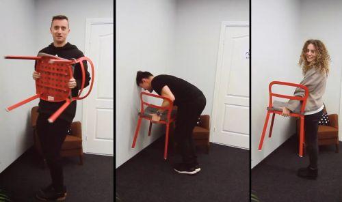 стул от стены челлендж
