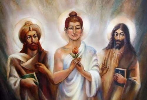Иисус Христос, Будда и Мухаммед
