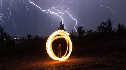 шаровая молния на земле