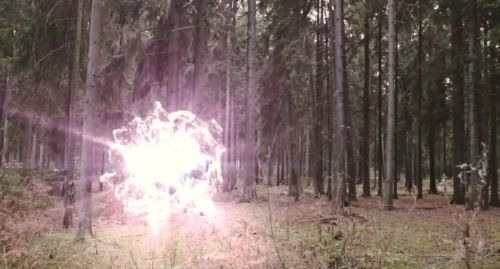 шаровая молния в лесу