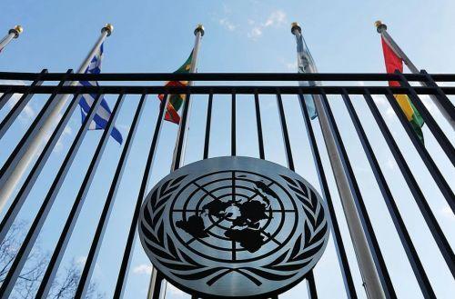 Флаги на заборе организации