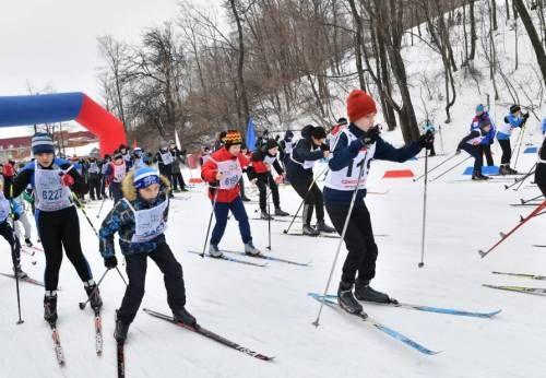 спортивные состязания Лыжня